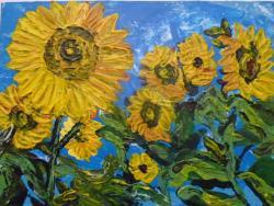 Picturi cu peisaje Camp cu floarea soarelui