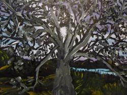 Picturi cu peisaje Copacul de la poalele dealului