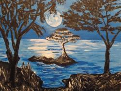 Picturi cu peisaje Noaptea pe insula