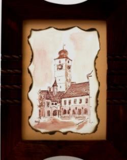 Picturi cu peisaje Turnul cu ceas, Sibiu