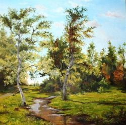 Picturi cu peisaje artari la marginea padurii