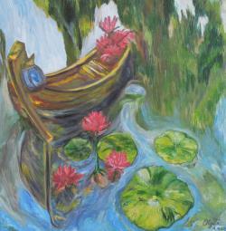 Picturi cu peisaje Nuferi in vis
