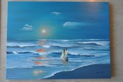 Picturi cu peisaje Valuri in doi