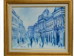 Picturi cu peisaje Bucurestiul vechi lipscani