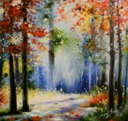 Picturi cu peisaje fantastic blue