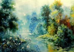 Picturi cu peisaje infinite blue