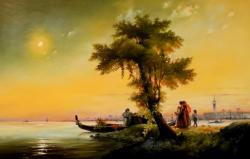 Picturi cu peisaje once upon a sunset