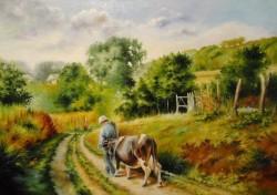Picturi cu peisaje Pe ulitele satului -4