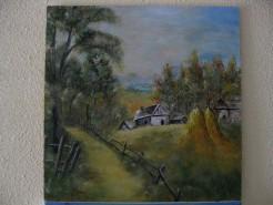Picturi cu peisaje Vara in sat