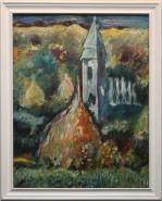 Picturi cu peisaje Peisaj cu biserica