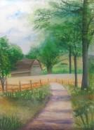 Picturi cu peisaje Old barns 1