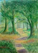 Picturi cu peisaje Poteca in padure