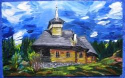 Picturi cu peisaje Biserica din budesti