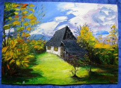 Picturi cu peisaje Maramures