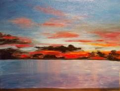 Picturi cu peisaje Sunset in thailand