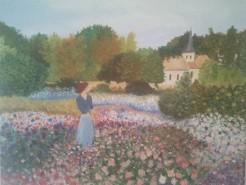 Picturi cu peisaje In gradina