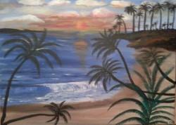 Picturi cu peisaje Peisaj exotic