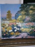 Picturi cu peisaje Gradina cu flori