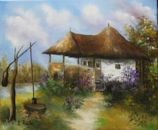 Picturi cu peisaje Casa cu liliac