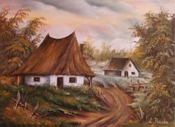 Picturi cu peisaje Casute