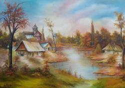 Picturi cu peisaje farmecul toamnei