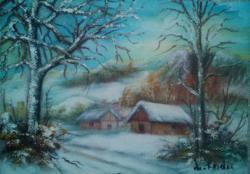 Picturi cu peisaje iarna 1