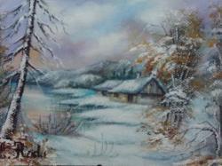 Picturi cu peisaje iarna 2