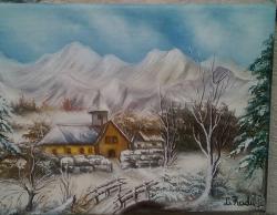Picturi cu peisaje iarna 3