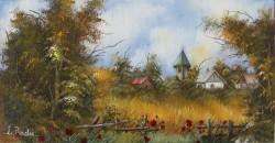 Picturi cu peisaje Lan de grau