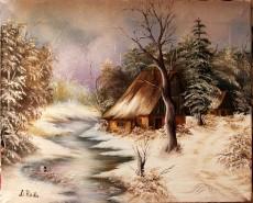 Picturi cu peisaje Liniste de iarna
