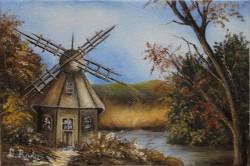Picturi cu peisaje Moara de vant