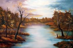 Picturi cu peisaje Toamna tarzie