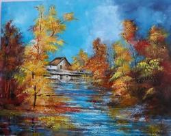 Picturi cu peisaje Totul in albastru