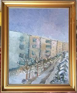 Picturi cu peisaje G205-BLOCURI IARNA