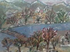 Picturi cu peisaje In livada