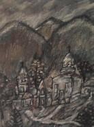 Picturi cu peisaje Satul parasit