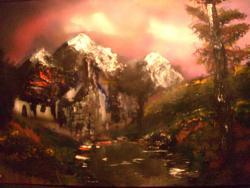 Picturi cu peisaje peisaj crud