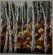 Picturi cu peisaje Mesteceni-culorile toamnei