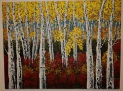 Picturi cu peisaje Mesteceni-splendoarea toamnei