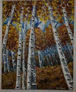 Picturi cu peisaje Padure de mesteceni 1