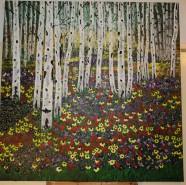 Picturi cu peisaje Padurea insorita
