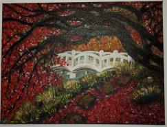 Picturi cu peisaje Toamna-covor rosu