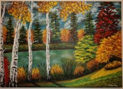 Picturi cu peisaje Toamna-fantezie de culori