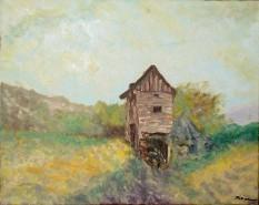 Picturi cu peisaje Casa din rapa