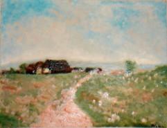 Picturi cu peisaje In linistea campiei