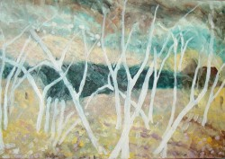 Picturi cu peisaje Toamna - iarna