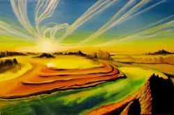Picturi cu peisaje Alien landscapes