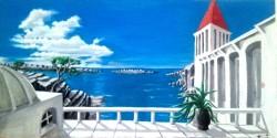 Picturi cu peisaje Deasupra marii