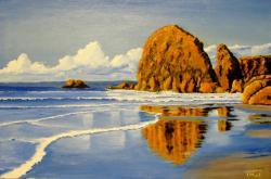 Picturi cu peisaje Waves ashore
