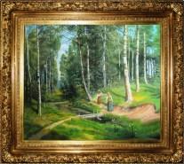 Picturi cu peisaje Izvorul din padurea cu mesteceni